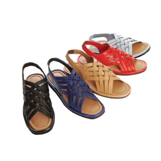 Woven Leather Sandals (Pair)
