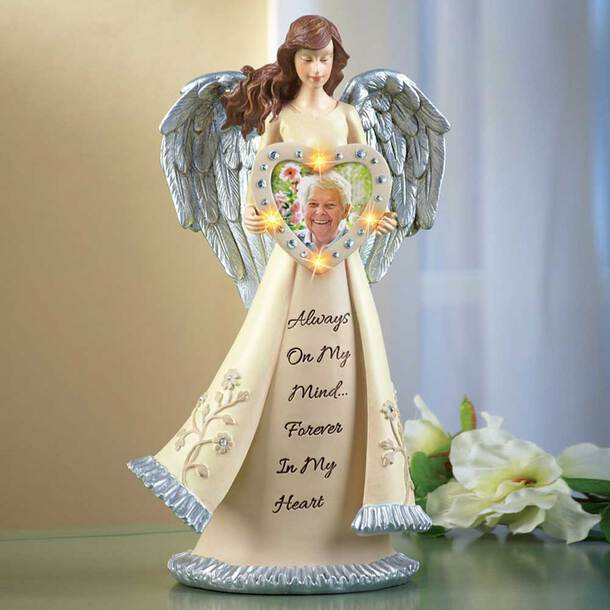Lighted Memorial Angel Figurine