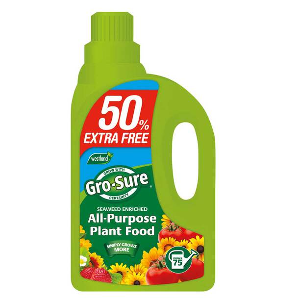 Gro-Sure Super Enriched All Purpose Plant Food 1L + 50% Extra FREE