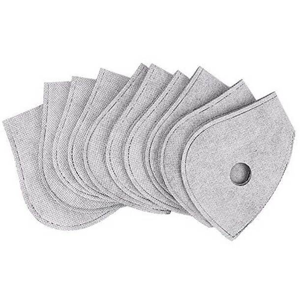 Activated Carbon Riding Mask filter(pack of 7)