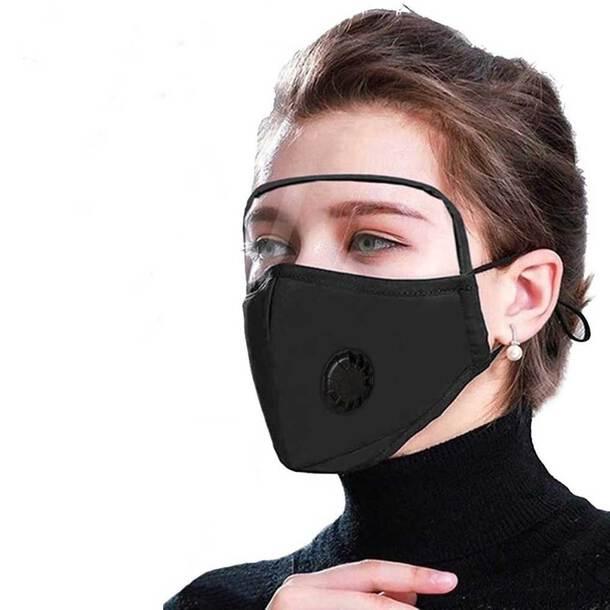 Reuseable Visor Filter Mask with Valve +1 Filter