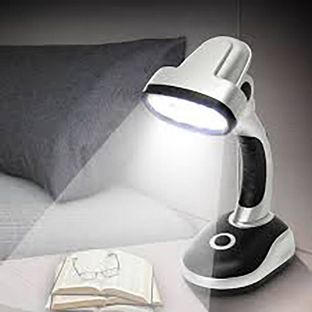 Desk Lamp (Pack of 2)-Silver