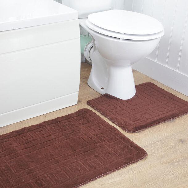 2 Piece Bathroom Mat Set