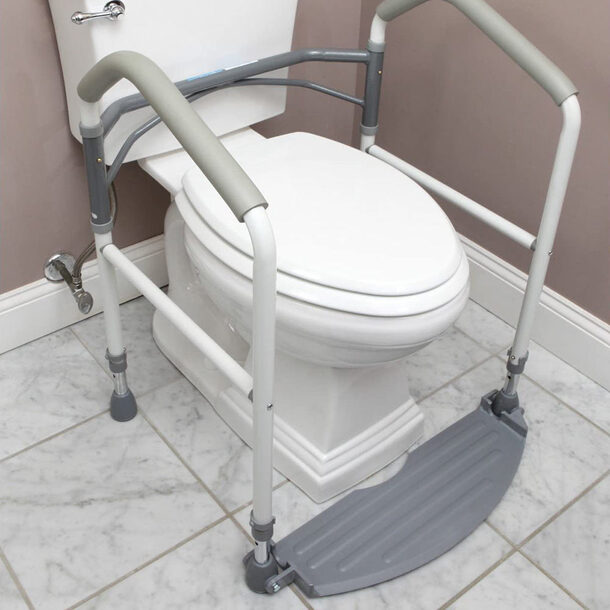 Portable Toilet Support Frame