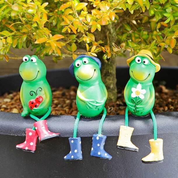 Flowerpot Frogs (Set of 3)