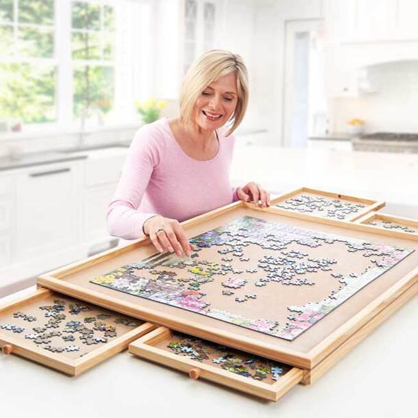 Wooden Jigsaw Organiser