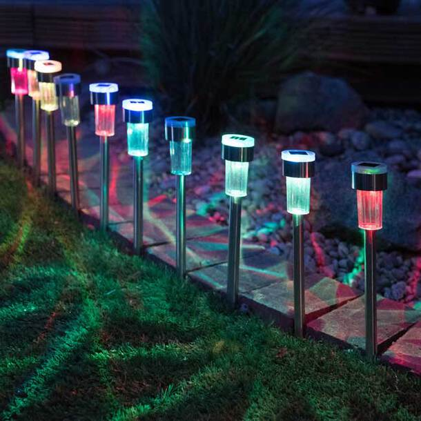 Dual-LED Colour-Changing Solar Lights