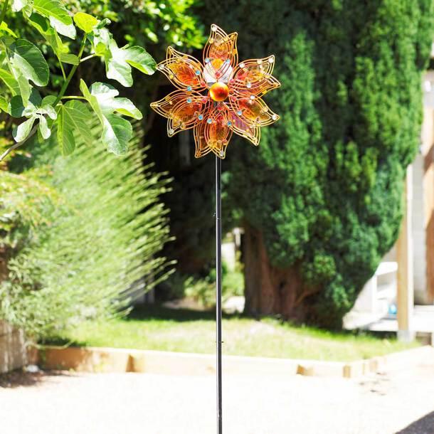 LED Light-up Solar Windmill Spinner