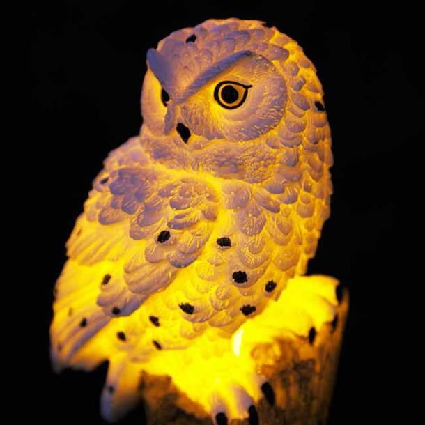 Glowing Solar Owl