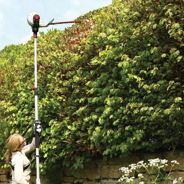 Lightweight Telescopic Long Reach Hedge Trimmer