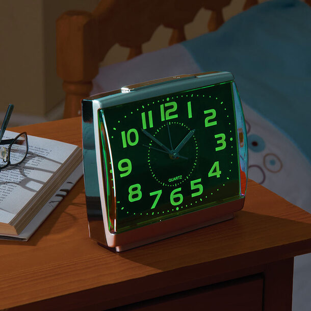 Easy-to-Read Glow-in-the-Dark Alarm Clock (box of 2)