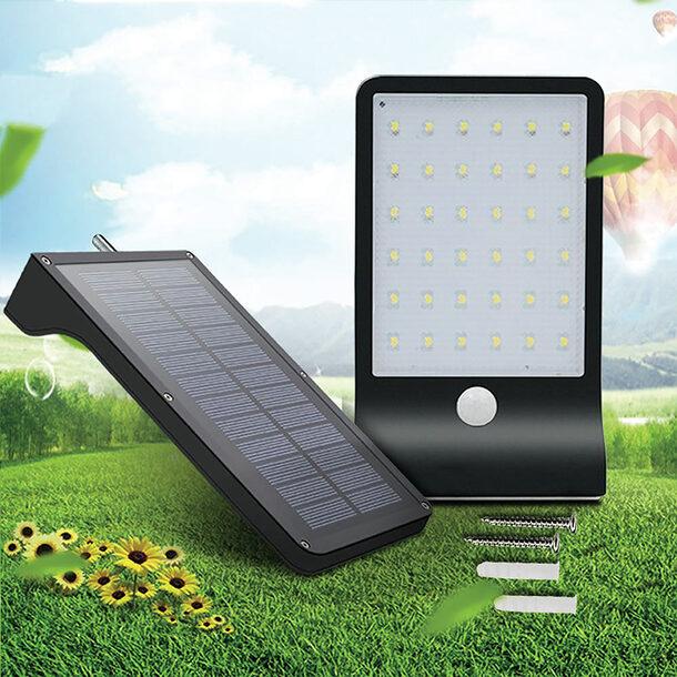 36 LED Solar Wall Light